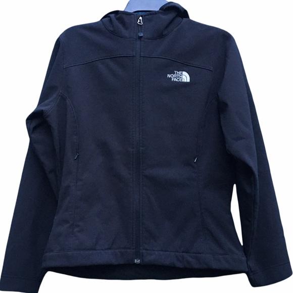 The North Face Black Full Zip Fleece Lined Hooded Jacket Women's Size Medium